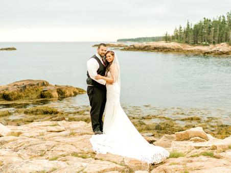 Emily + Kameron | Oceanwood Barn Wedding | Coastal Maine Photographer
