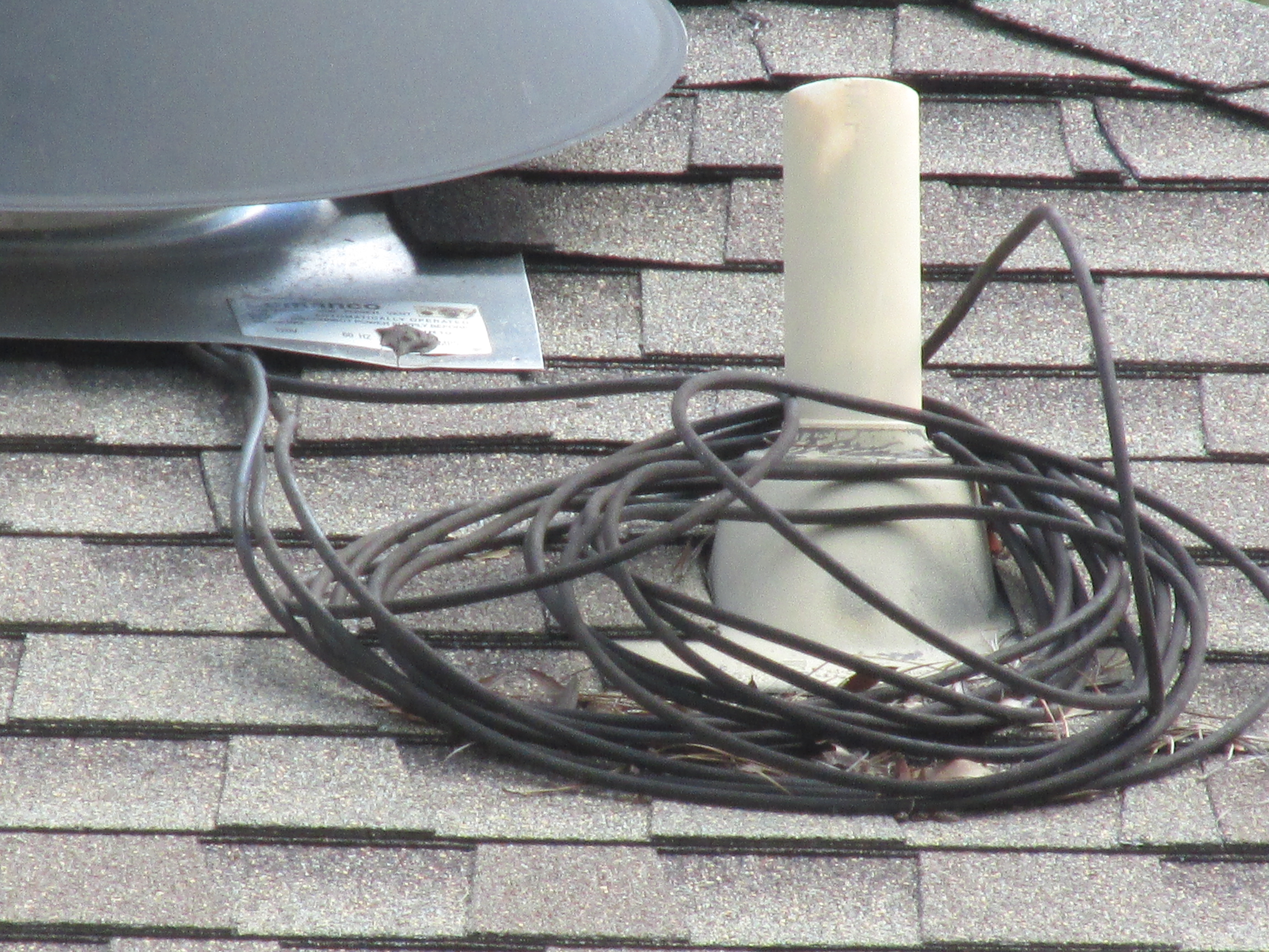Wiring on roof