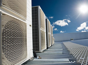 Air conditioner units (HVAC) on a roof o