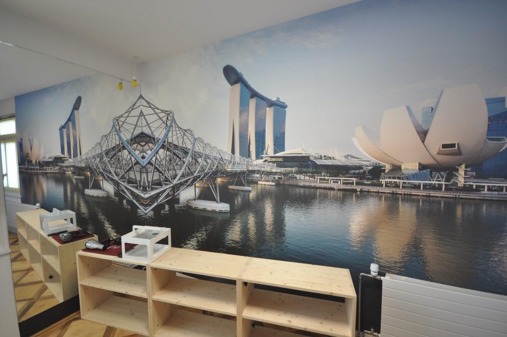BS16 Hotel Bern Zimmer 9 - Singapur Skyline   Lichtspektakel - BS16