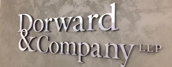 Dorward & Company Reception Sign
