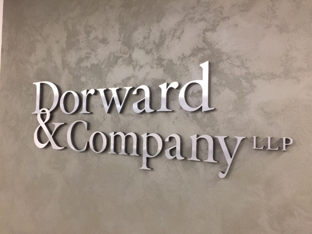 Dorward & Company Reception Sign