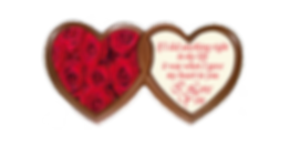 Personalised Printed Chocolate Heart
