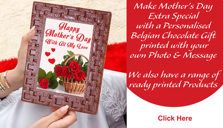 Personalised Printed Mother's Day Chocolate Card / Frame