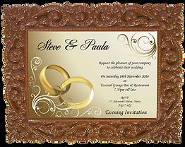 Personalised Printed Chocolate Wedding Invitation Card
