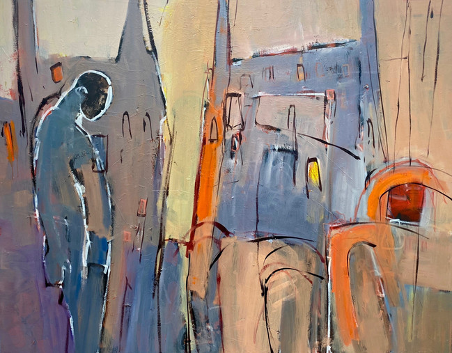 "The Consolation of Industry. Oil 60x48"", (C) 2020 Martin Kinnear"