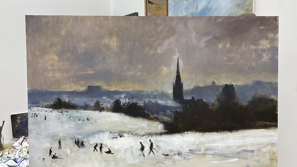 """21. Norwich from Mousehold after Seago 30"""" x20"""""""
