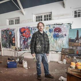 In the Studio for  Norfolk Living, 2019.