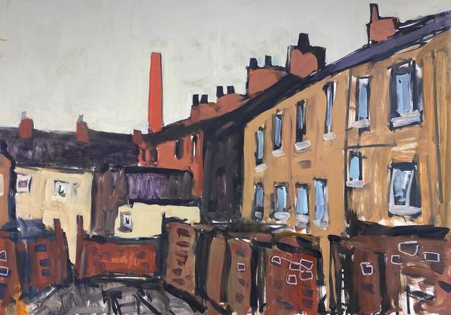 Study for Backstreet Burnley, Govt. Art