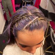 Fun Purple Hair Highlights