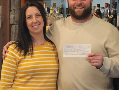 THANK YOU! Casey Trudeau & staff at Oakley's Pub, Trudeau Park Lodge for their generous donation