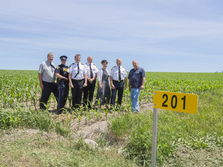 First Sign Installation – Northumberland County