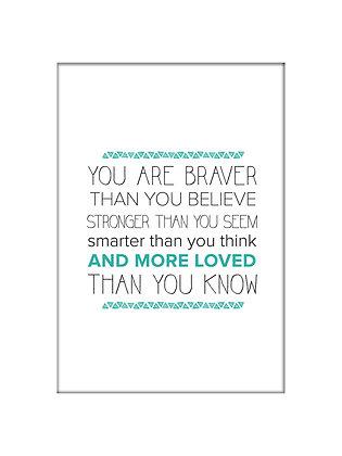 Unframed: Braver (Turquoise)