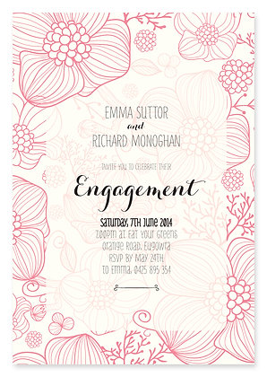 Floral Jungle Engagement Invitation