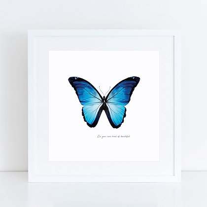 Blue Butterfly: Set of 2