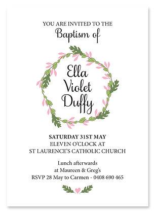Floral Wreath Baptism