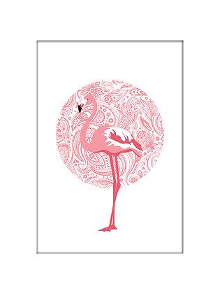 Unframed: Flamingo