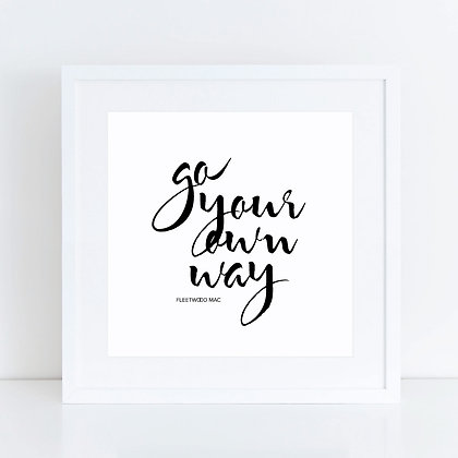 Go Your Own Way: Set of 2