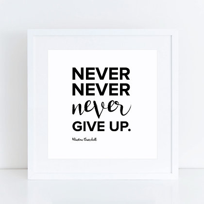 Never Give Up: Set of 2