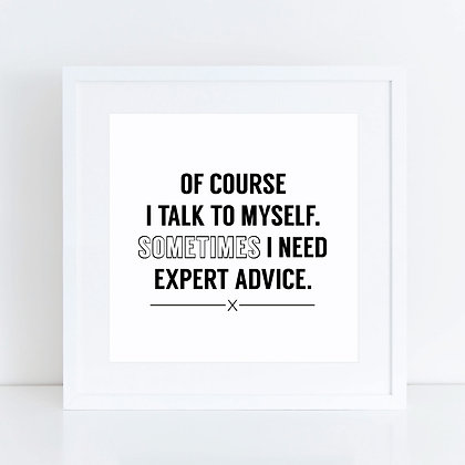 Talk To Myself: Set of 2