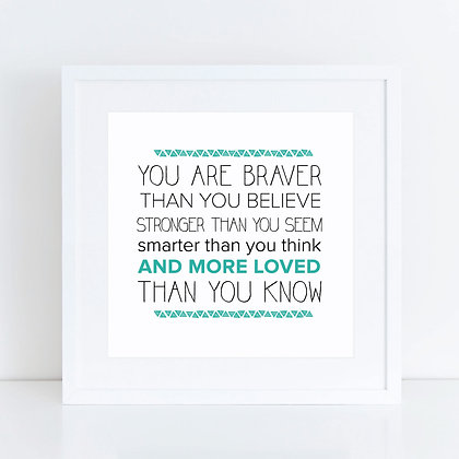 Braver (turquoise): Set of 2