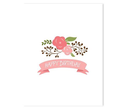 Happy Birthday {flowers}: Set of 3