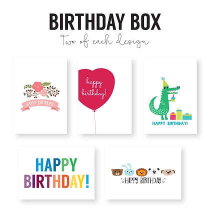Boxed Set of 10 Birthday cards