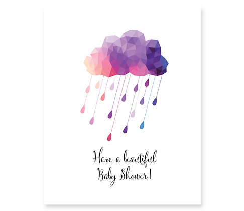 Baby Shower (rain cloud): Set of 3