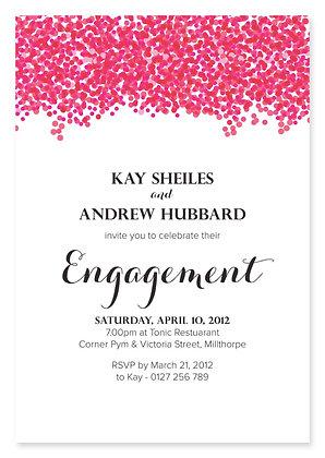 Confetti Engagement Invitation