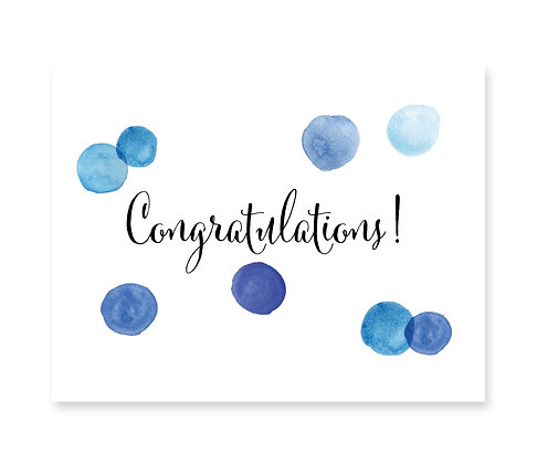Congratulations (Blue): Set of 3