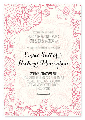 Floral Jungle Wedding Invitation