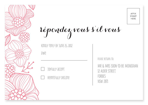 Floral Jungle RSVP Card
