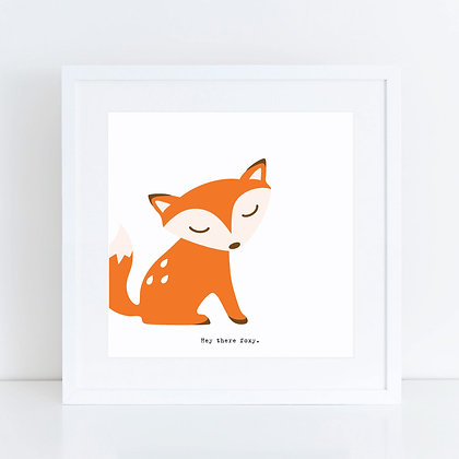 Hey There Foxy: Set of 2
