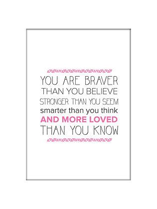 Unframed: Braver (Pink)