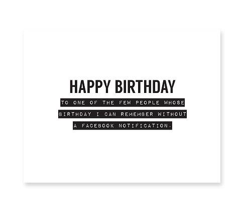 Birthday: Facebook