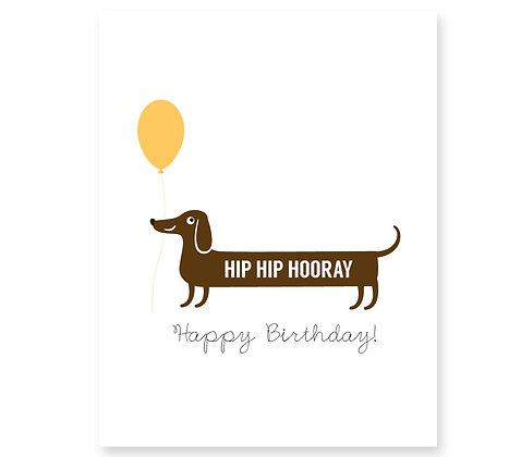 Happy Birthday (Sausage Dog): Set of 3