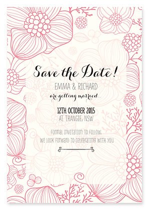 Floral Jungle Save The Date