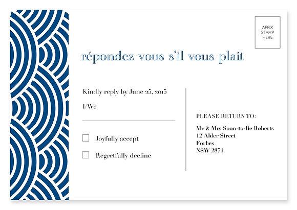 Ampersand RSVP Card (Navy)