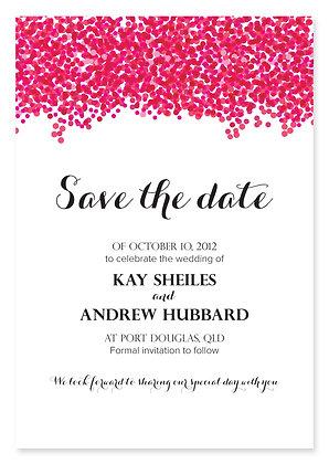 Confetti Save The Date