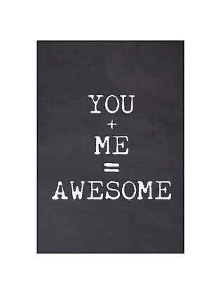 Unframed: You + Me = Awesome