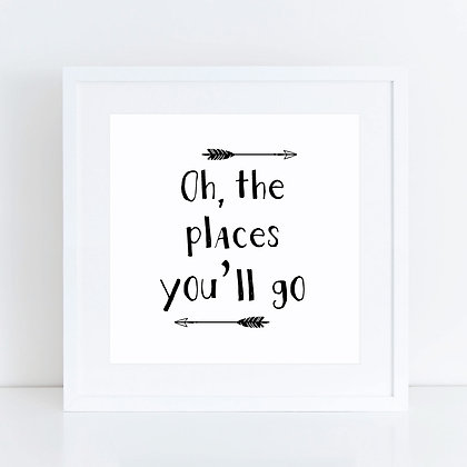 Oh The Places: Set of 2