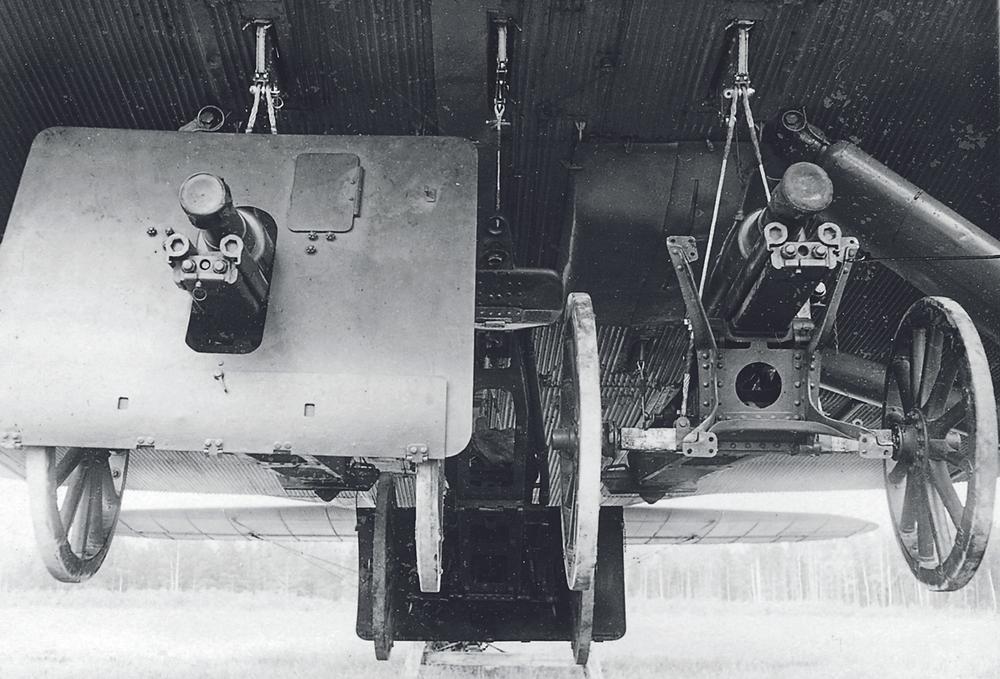 75-мм пушки подвешены под ТБ-3