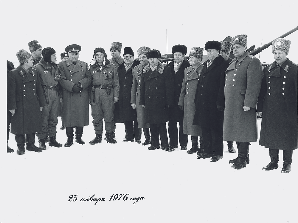 Все, кто готовил и отвечал за судьбу первого экипажа ПРС. 23 января 1976 года
