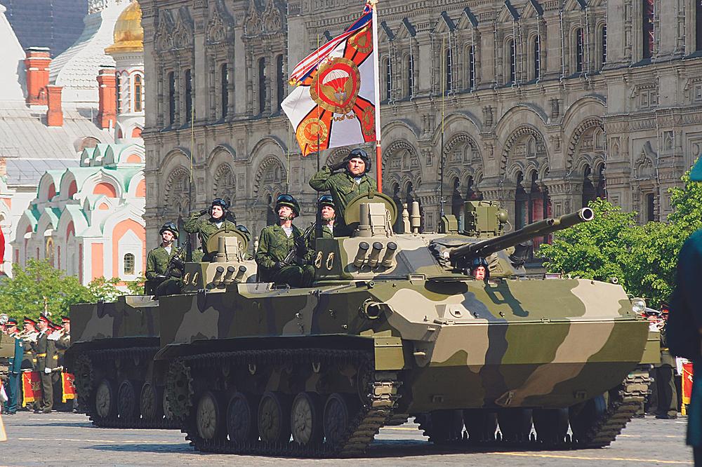 БМД-4 принимает участие в параде Победы на Красной площади