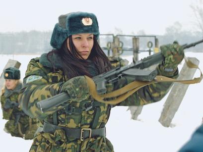 Женское лицо воздушно-десантных войск России