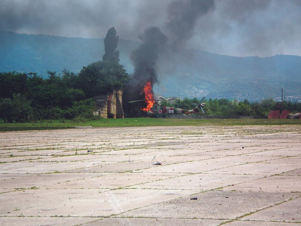 Уничтоженный грузинский вертолёт