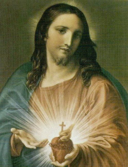 Veladora Sagrado Corazón (Etiqueta)