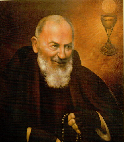 Veladora Padre Pío (Etiqueta)