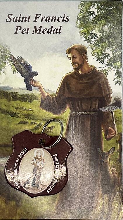 Medalla para mascota (rojiza)