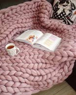 Chunky Wool Knit Blanket